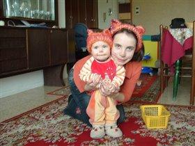 Мама кошка и доча киска:-)1