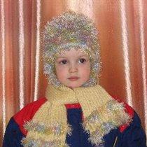 Детская шапочка с шарфом