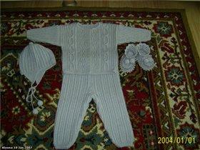 Серый костюмчик-набор