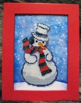 Застенчивый  снеговик