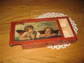 Коробочка-пенал с ангелочками