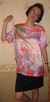 блузка с орхидеями