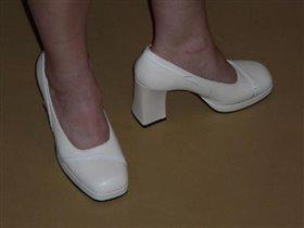 Туфли белые на платформе. Вилмар