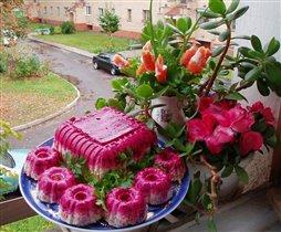 Шуба и форельные тюльпаны