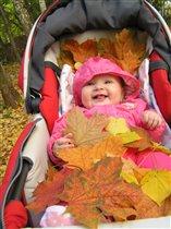вся в листьях ! :)