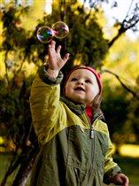 Осень, солнце, пузыри