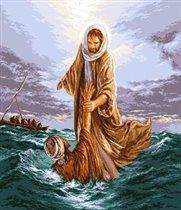 Jesus saving Petru - Иисус спасает Петра