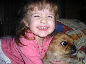 Я люблю свою собаку,причеши ей шерстку гладко...