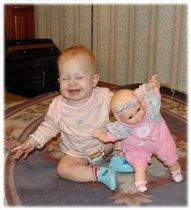 А моя кукла - юмористка!!!