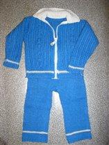 костюм синий