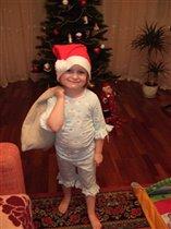 'Дед Мороз в домашней обстановке.'