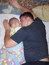 А вот так спят мои любимые!