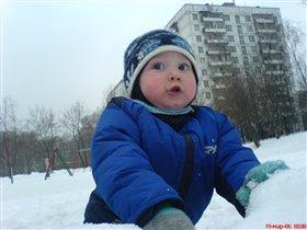 ой, снежок летит