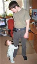 'Папа, папа, я вырасту таким же большим? Обязательно!'