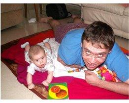 Я и папа вместе играем!