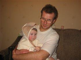 Папа, мне с тобою так тепло!
