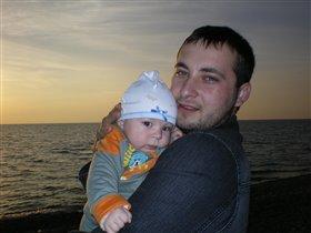 Прогулка с папой у моря
