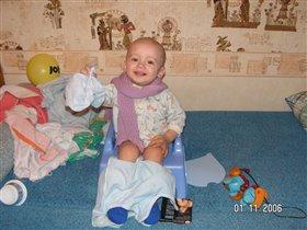 владюшка, игрушки и горшок