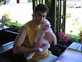 Папа с любимой Аринкой