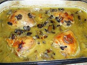 Цыпленок с грибами