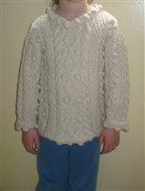 Детский свитер, аран