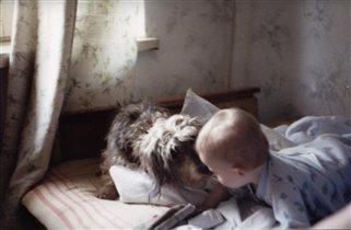 Собака и детка