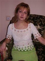Блуза из хлопка со льном