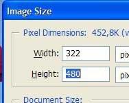 Высота снимка теперь 480 пикселов
