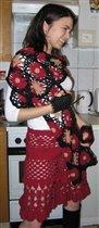 Юбка Patrizia Pepe, шарфик и митёнки