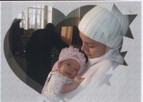 С мамой на крестинах