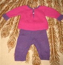 малиново-фиолетовый костюм