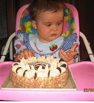 Тортик? А почему коричневенький?