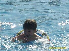 Артурчик в бассейне(в Египте)