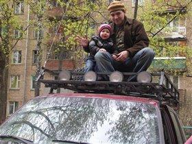 Папа с Тёмой - джиперы