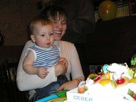 Первый день рождения Тимоши!