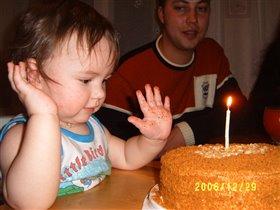Вот это торт, большой и мягкий.