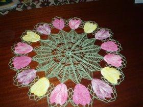 Салфетка тюльпаны
