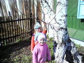 Сажаем огород с сестрёнкой!