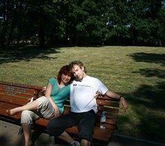 мы с сыном Дмитрием (студентом) в парке Аркадия г.Рига