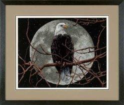 13688 Eagle in Moonlight