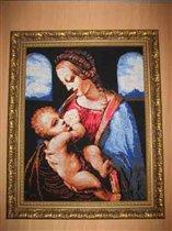 Мадонна Литта  по мотивам картины Леонардо да Винчи