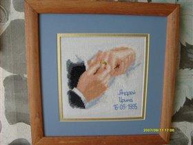 Рука одевающая кольцо