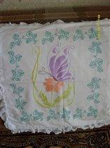 подушка-гладь и стебельчатый шов