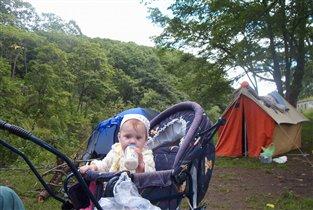 Поход- это классно, поход-это клево; ночевка в палатке прикольней, чем дома