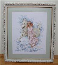 Девушка с лошадью от Ланарте