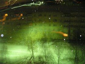 Ночь. Окно. Зима.