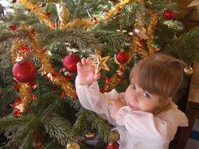 'Маме нравятся красные игрушки, мне  золотые, а елочке нашей - и те, и другие..'
