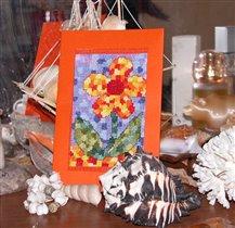 Мой летний мозаичный цветочек :)