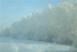 утро зимой.