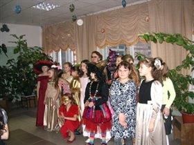 Новый 2008 год, девочки нашего класса